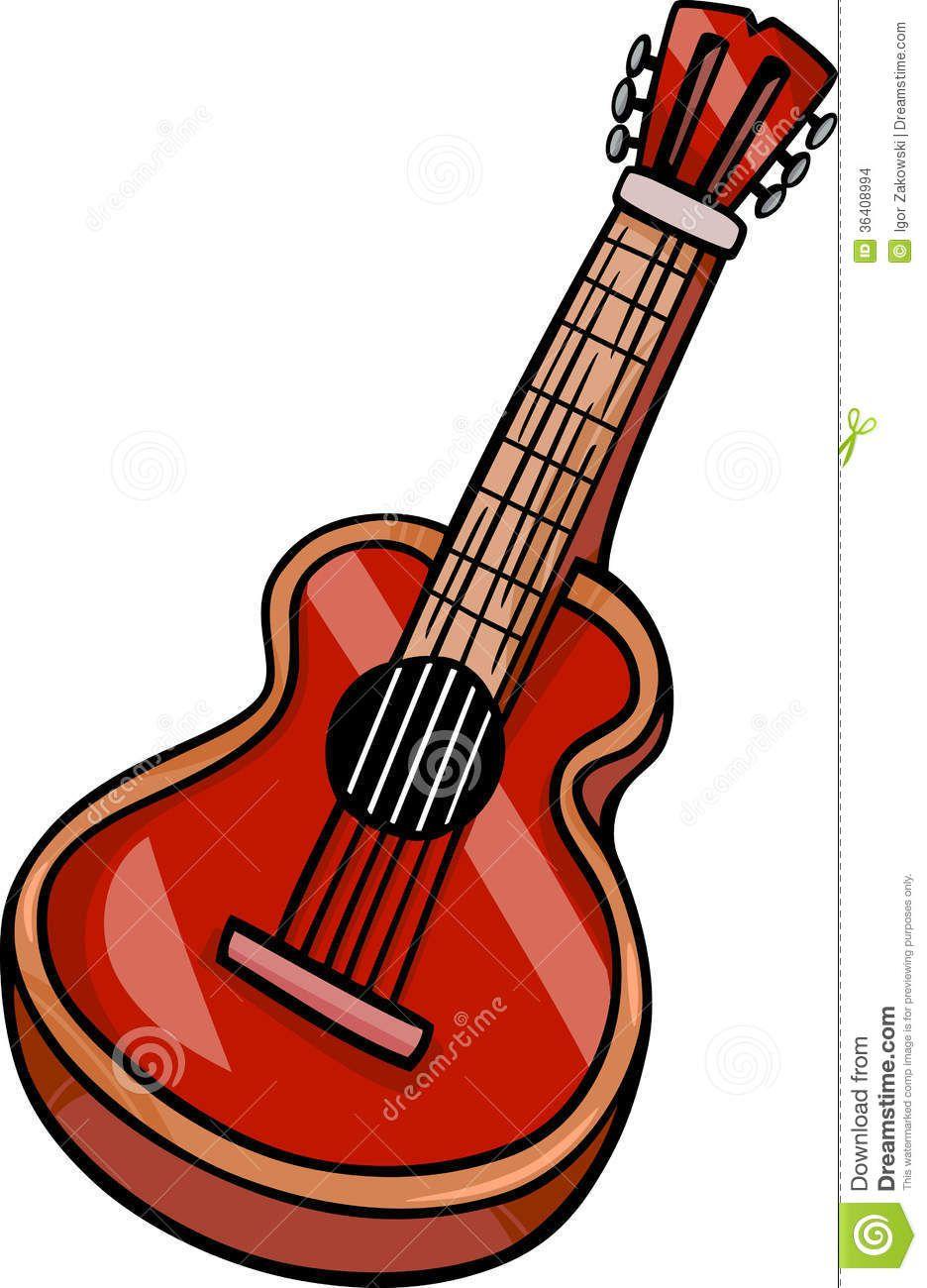 Acoustic Guitar Cartoon Clip Art Cartoon Clip Art Clip Art Guitar