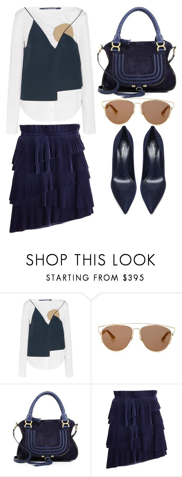 """""""09.05.17"""" by fridaeklof ❤ liked on Polyvore featuring Jacquemus, Christian Dior, Chloé, Marco de Vincenzo and Gianvito Rossi"""