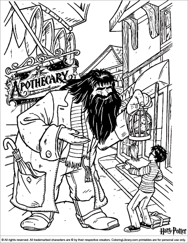 Harry Potter coloring page | Harry potter coloring pages, Harry ...