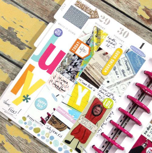 July week in the happy planner of mambi design team member candi billman me