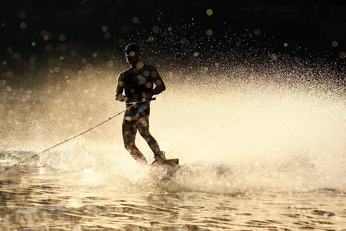 Sunset Wakeboarding.