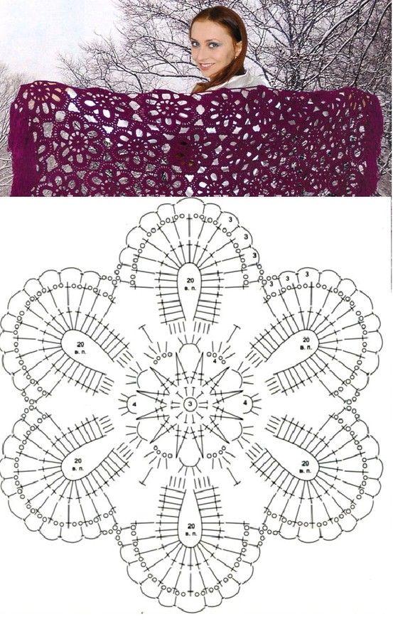 Crochet Flower Motif Diagram Wzory Do Wyszedylkowania Crochet