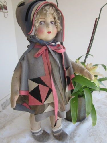 Wonderful-c1930-Lenci-Alma-Raynal-Type-French-20-Doll-All-Original