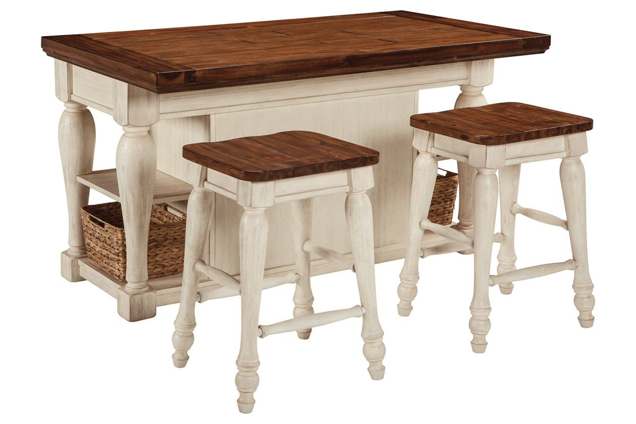 Marsilona 3-Piece Kitchen Island Set | farmhouse furniture ...