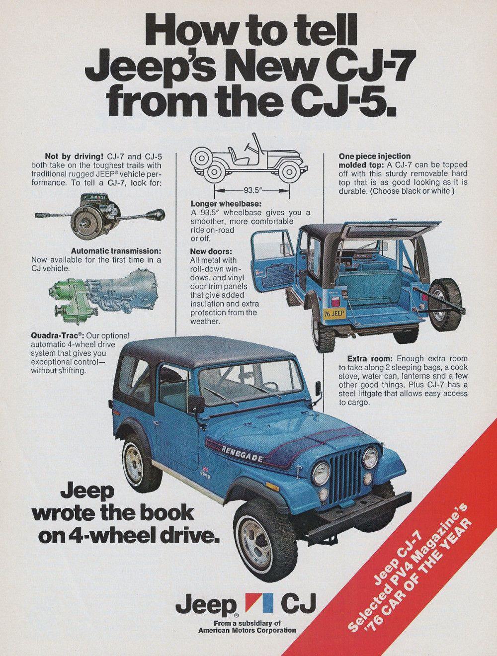 1976 Jeep Cj 7 Jeep Cj Jeep Jeep Cj7