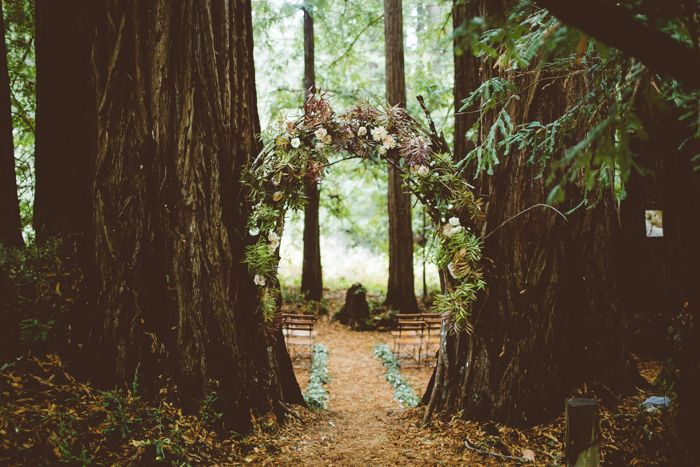 Magical Estate Wedding In The Middle Of A Redwood Forest Image By Bethany Carlson