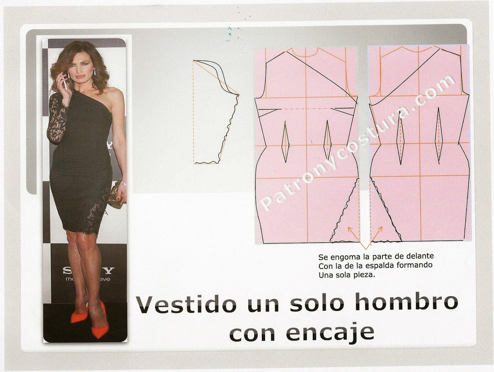 Pin de Fernanda Elizabeth Guacán Arteaga en One Shoulder Dresses ...