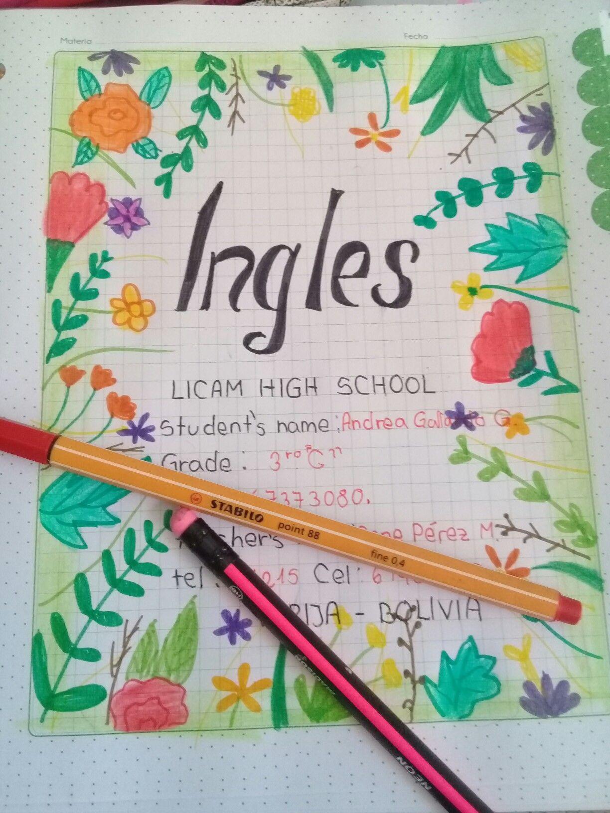 Caratulas creativas   Caratulas para cuadernos   School ...