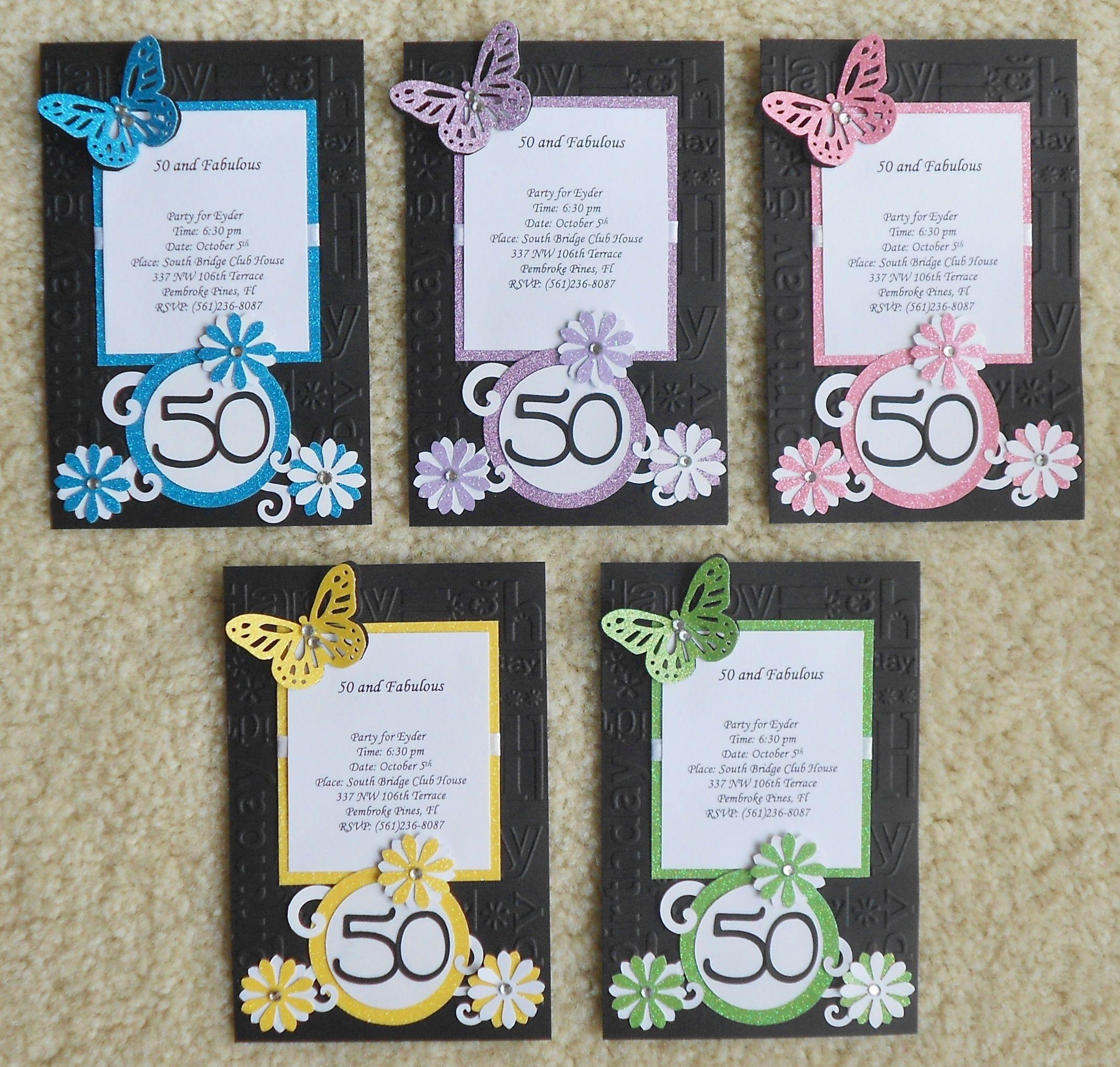 Handmade Birthday Invitations