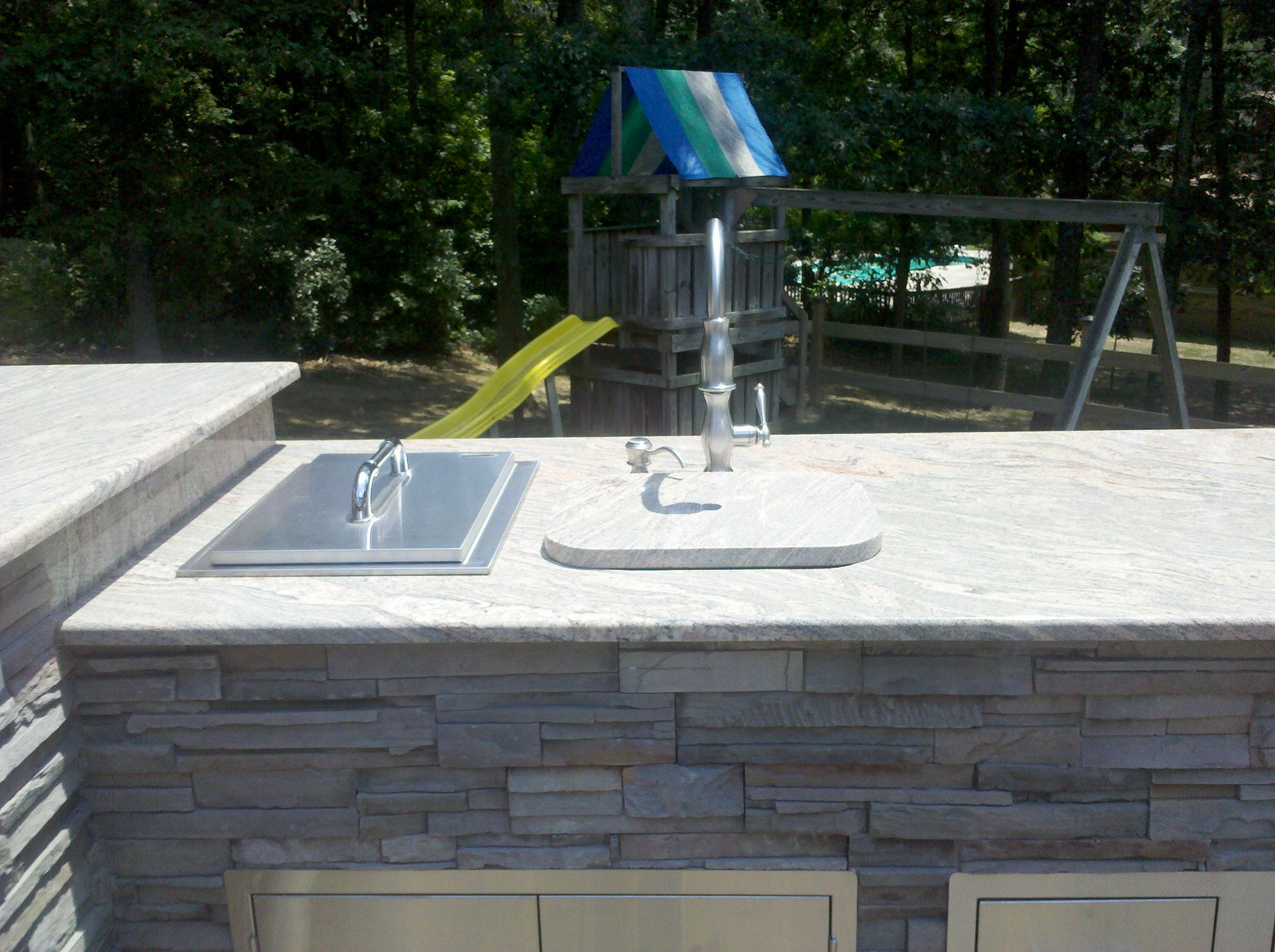 Outdoor Kitchen - White Plains, MD; built-in ice box and outdoor ...