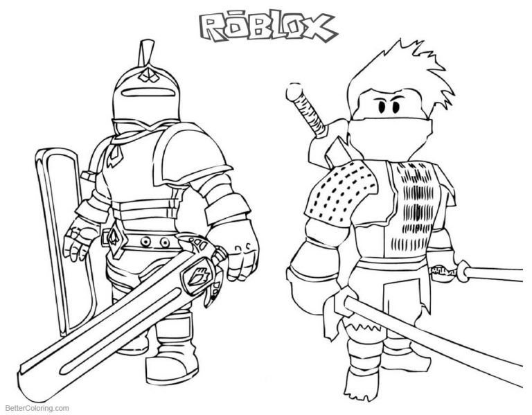 Printable Roblox Coloring Pages Roblox Coloring Pages Ninja And Knight Free Printable 1 Ninjago Coloring Pages Dinosaur Coloring Pages Coloring Pages For Boys