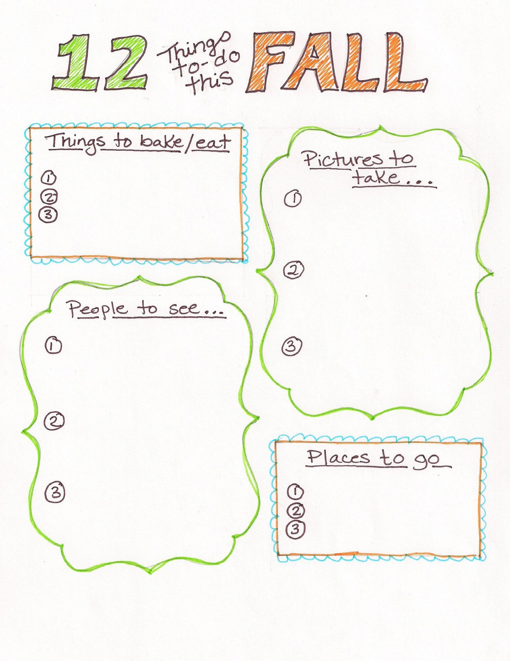 Fall Bucket List Free Printable Love The Simplicity
