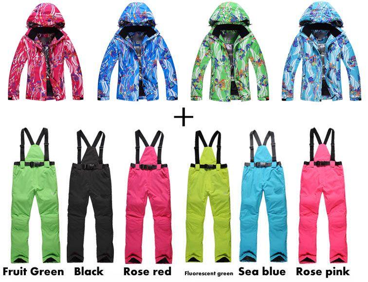 Women Snow Clothing NEW ₩ Arrived Fashion Colorful Flower Women Snowboard ⊰  Coat 10K waterproof Ski
