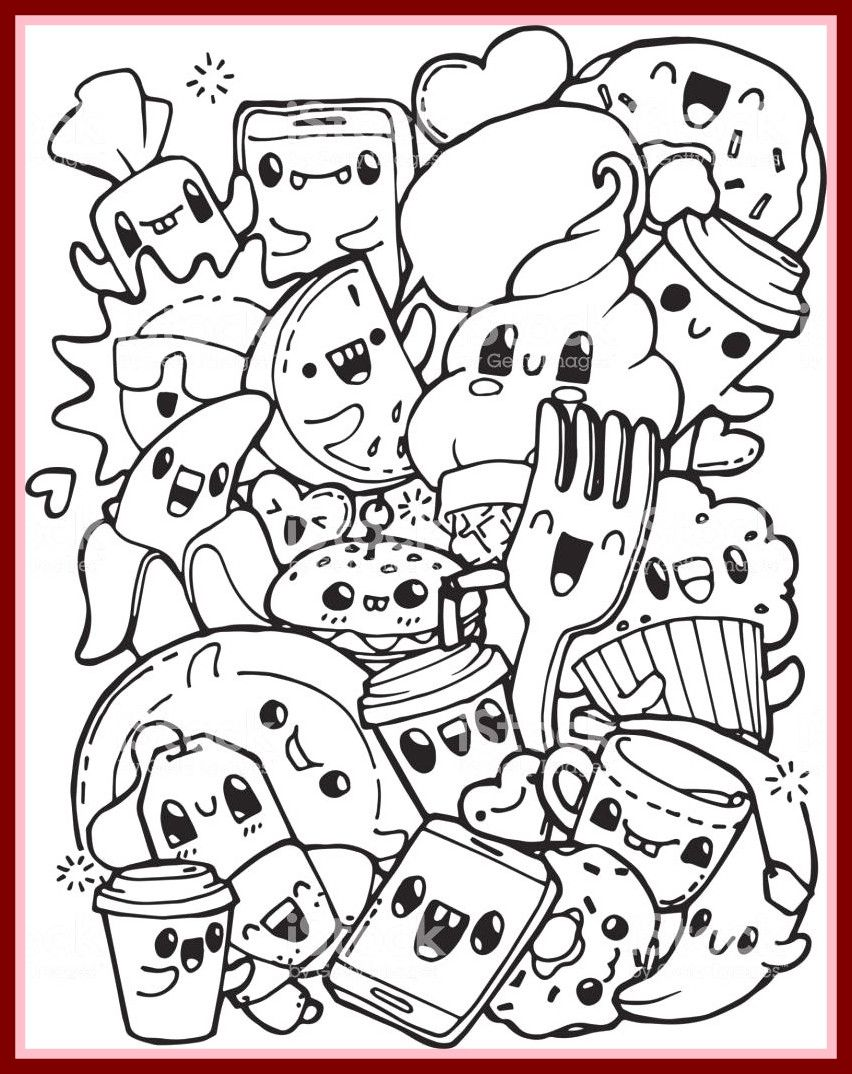 Fascinating Coloring Pages Cute Food Zimeon Me Lively With Pics Tumblr Coloring Pages Food Great Cute Coloring Pages Doodle Coloring Tumblr Coloring Pages