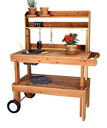 Salish Cedar Western Garden Cart Heavy Duty Red More Info Could Be Found At The Image Url With Images Garden Cart Potting Bench Beautiful Home Gardens