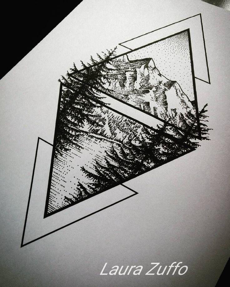 Photo of laurazuffottt#Mountain #mountains #pines #lake #mountainlake #dotwork