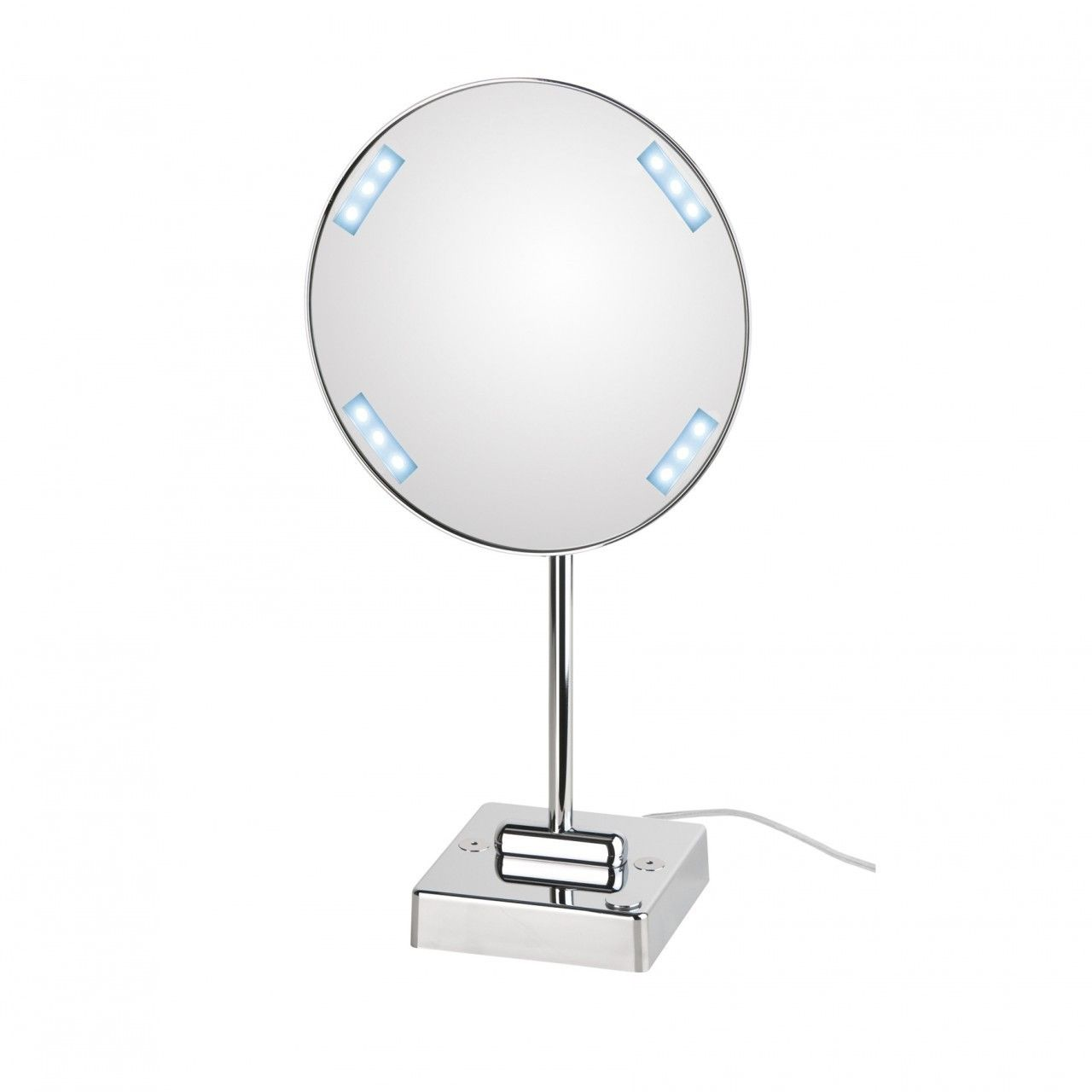 WS Bath Collections Discololed 37-1 LED Lighted Magnifying Mirror 3x ...