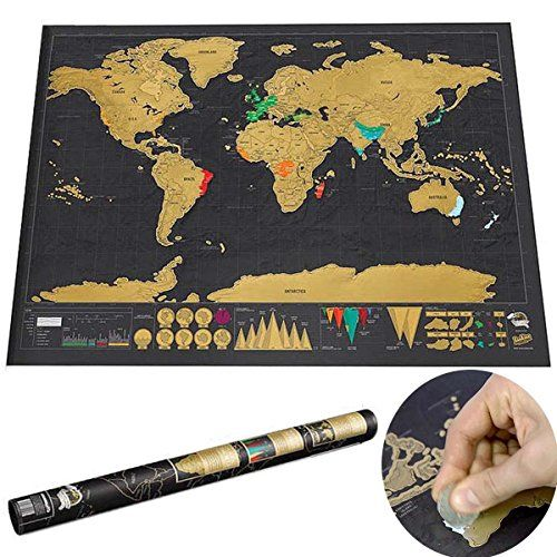 explore scratch off amazon and more leagueco novelty world map