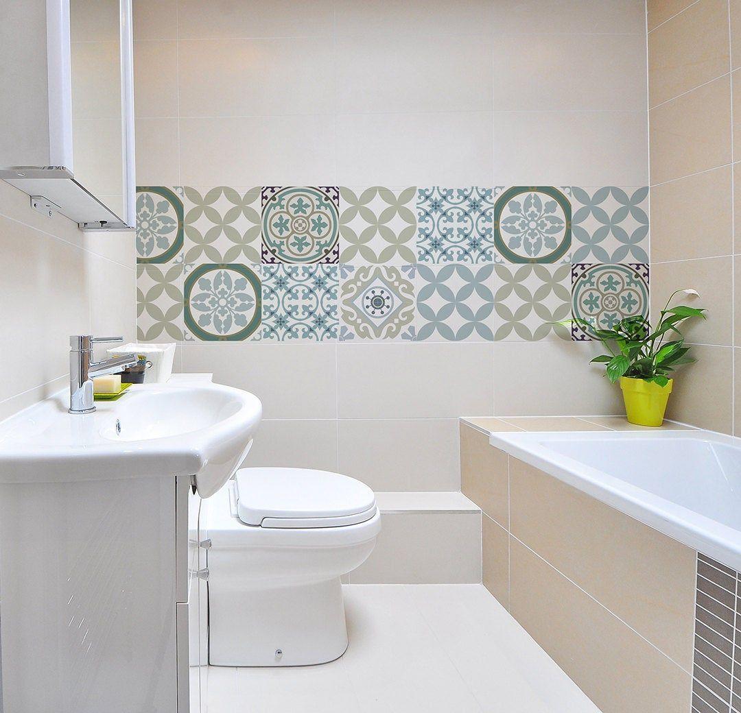 Mix Tile Decals Kitchen Bathroom Tiles Vinyl Floor Tiles Free Etsy In 2020 Bathroom Tile Stickers Tile Bathroom Bathroom Tiles Pictures