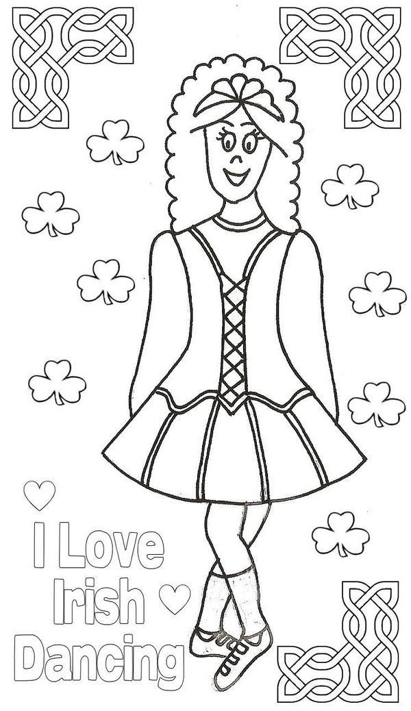 Pin By Sarah Hook On Colouring Pages Dance Coloring Pages Irish