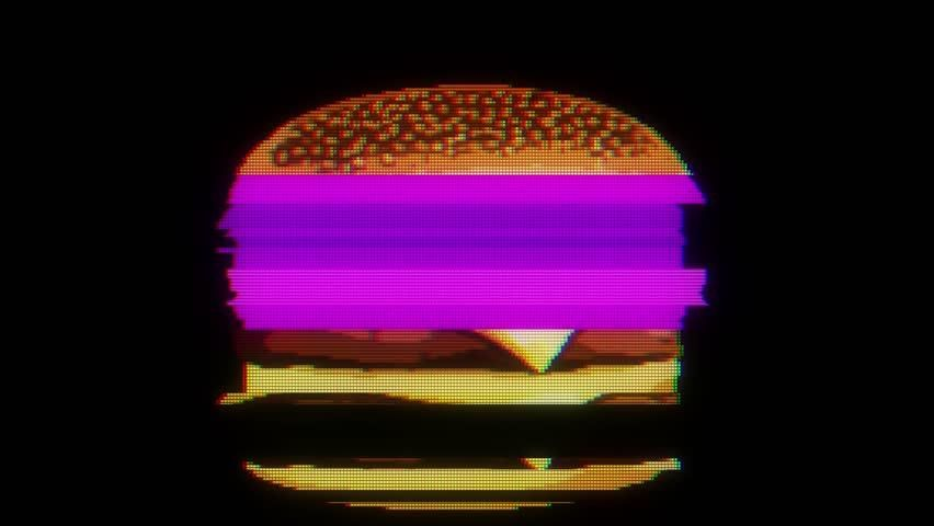 Drawn Marker Pixel Burger Glitch Stock Footage Video (100% Royalty-free) 33143785