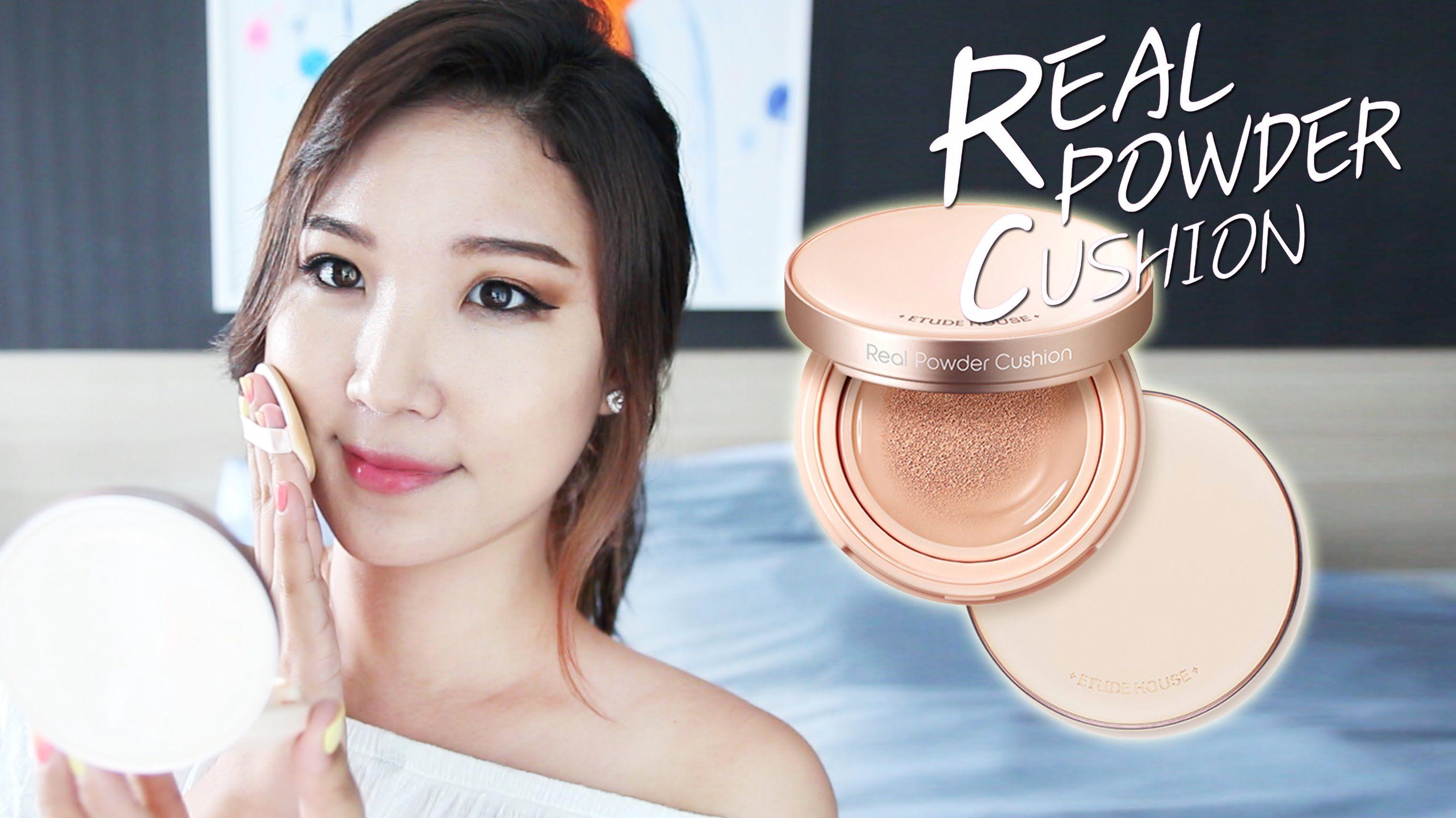 NEW! Etude House Real Powder Cushion Review Liah Yoo
