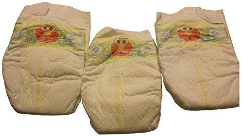 3 Windeln Baby Reborn Babypuppe Elmo Sesamstraße Pamper Windel Set Windel Ooak