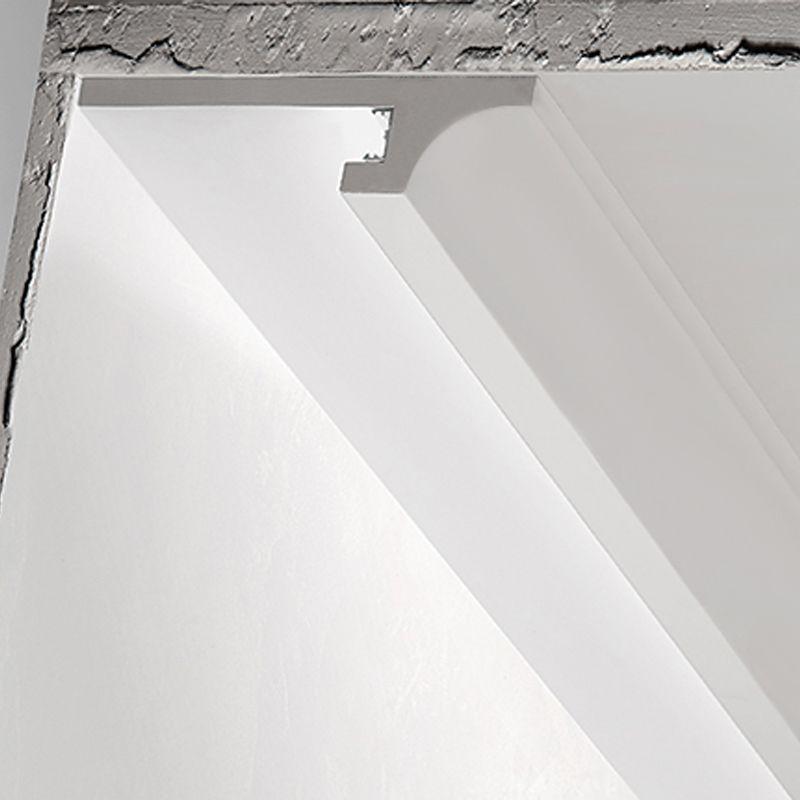 3 metri CORNICE PER LED IN GESSO ILLUMINAZIONE INDIRETTA