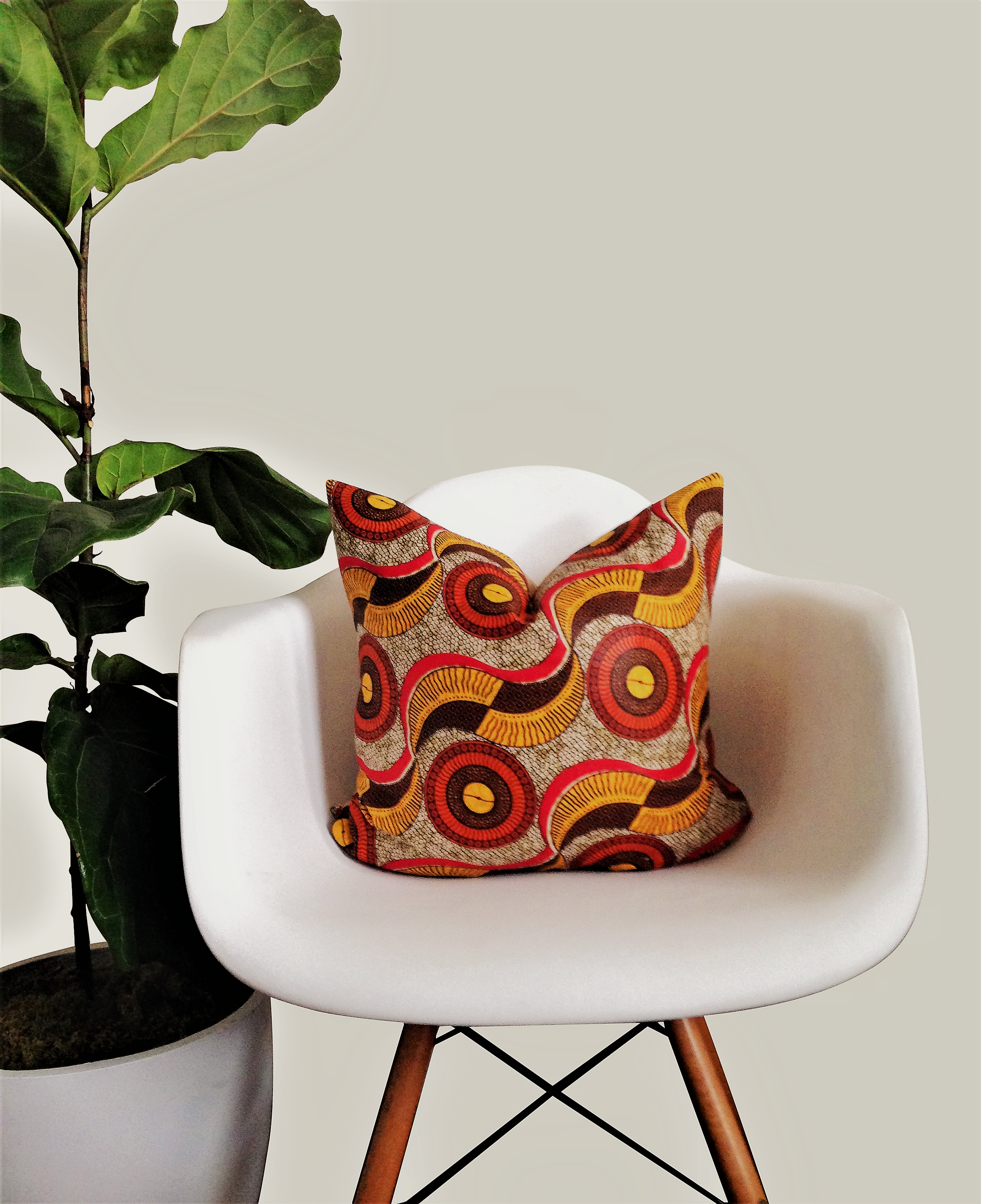 New arrival harvest african wax print throw pillow this pillow in warm autumnal hues will
