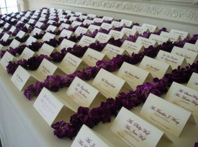 Wedding Place Card Display Ideas