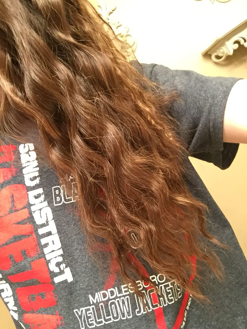french braid and curls! :) directions: 1.) part hair evenly down