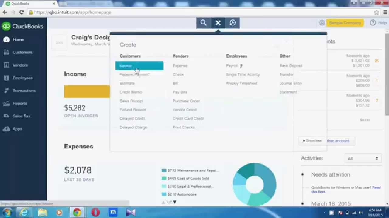 Convert An Estimate In To Invoice In QuickBooks Online QuickBooks - Create invoice in quickbooks online