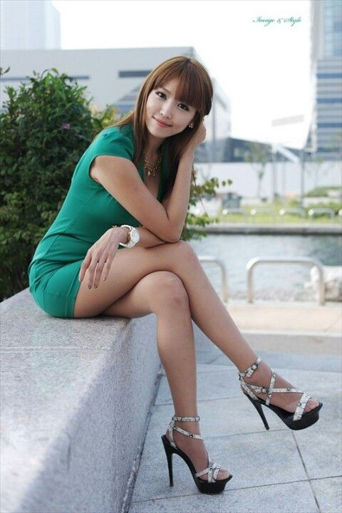 high sexy heel Asian