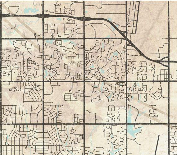 WICHITA KS Canvas Print KS Kansas Vintage map Wichita ks City