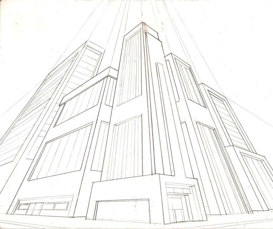 3point perspective city by greyfoxdie85 | Point Perspective ...