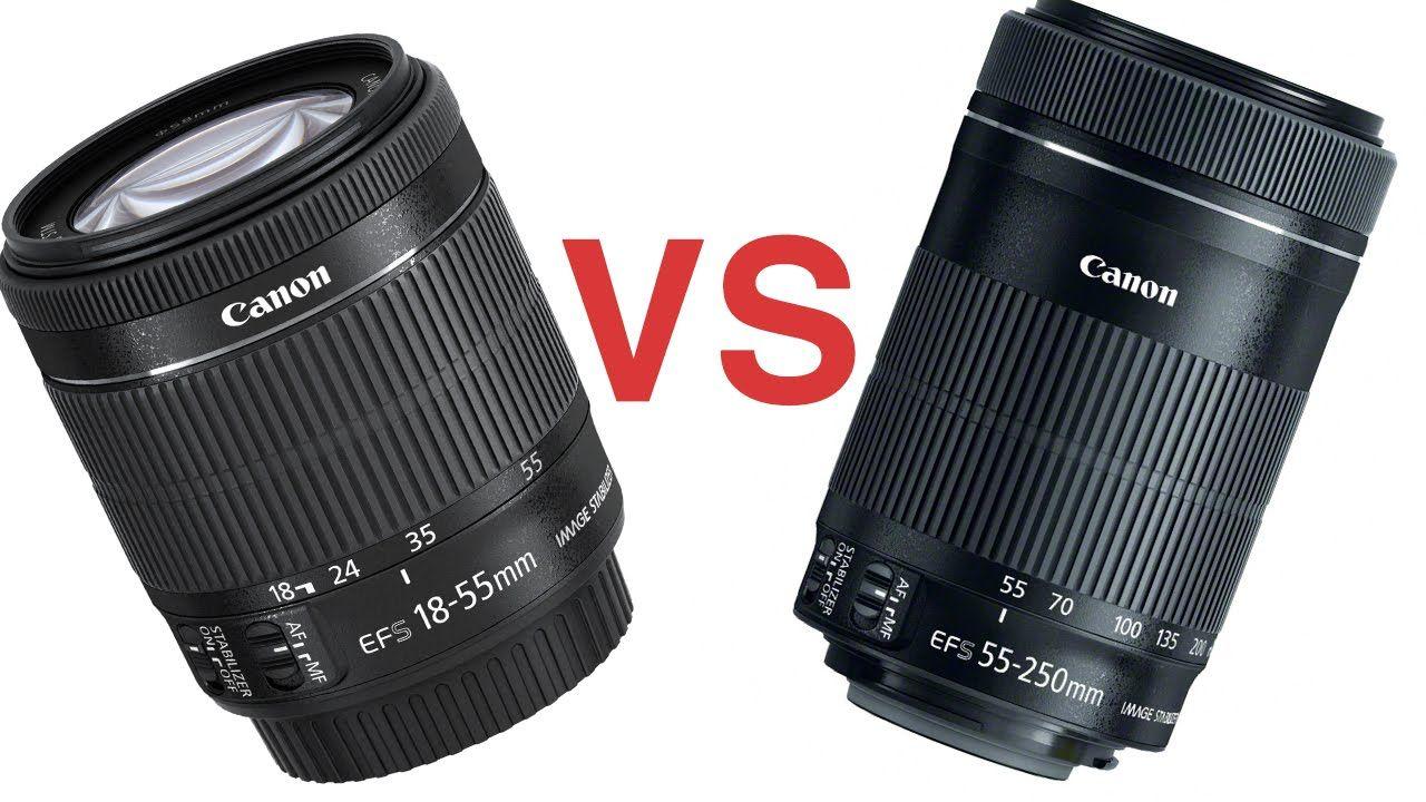 Canon 18 55 Vs 55 250 Stm Lenses Lenses Canon Glassware