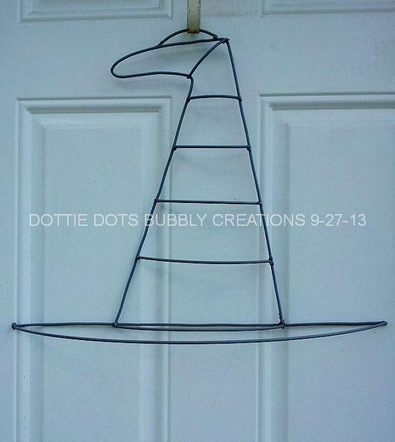 Witch Hat Form Wreath   Wreaths & Door Hangers   Pinterest   Wreaths ...