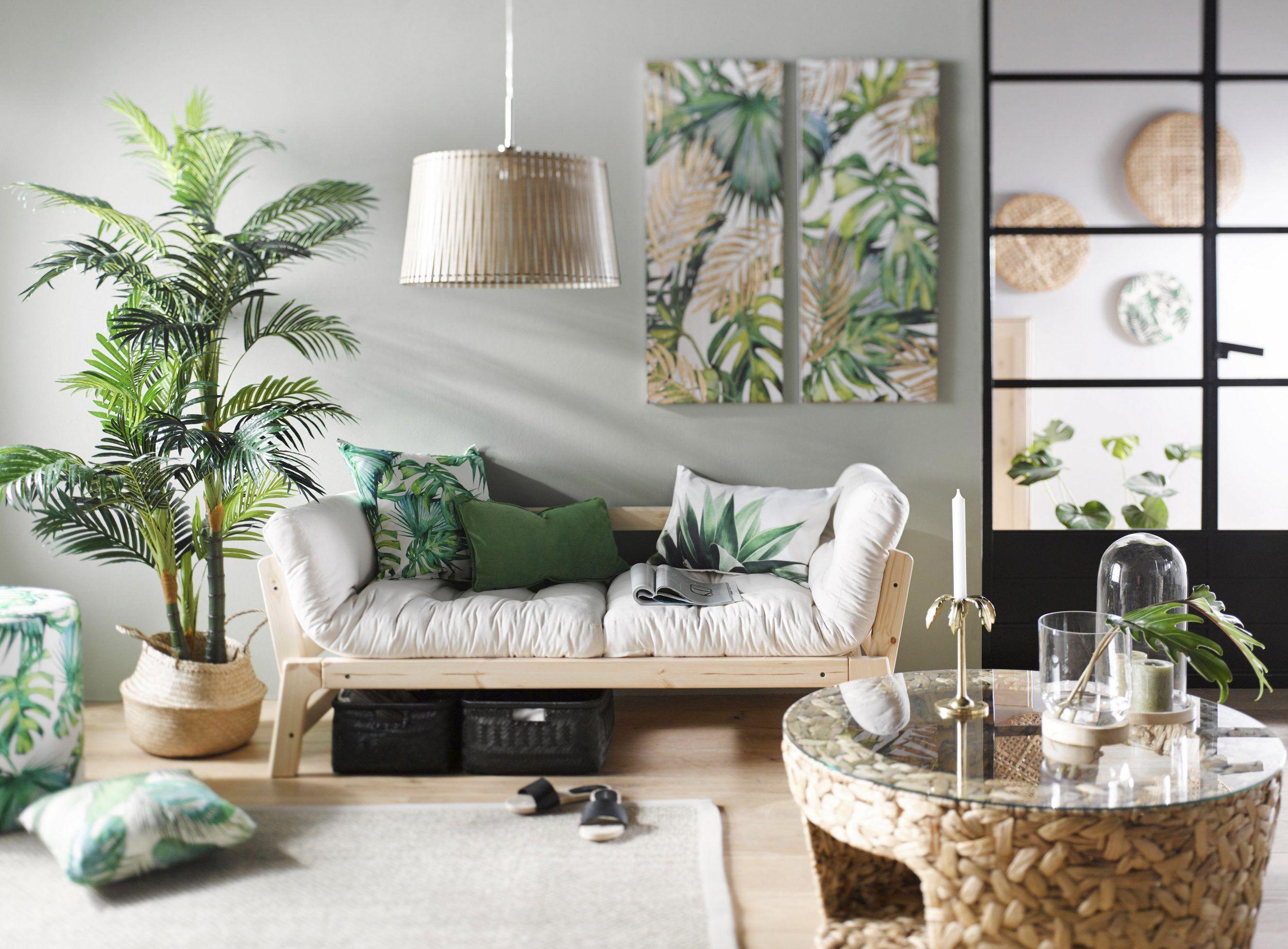 Wandgestaltung Wohnzimmer – der Urban-Jungle-Look - DAS HAUS