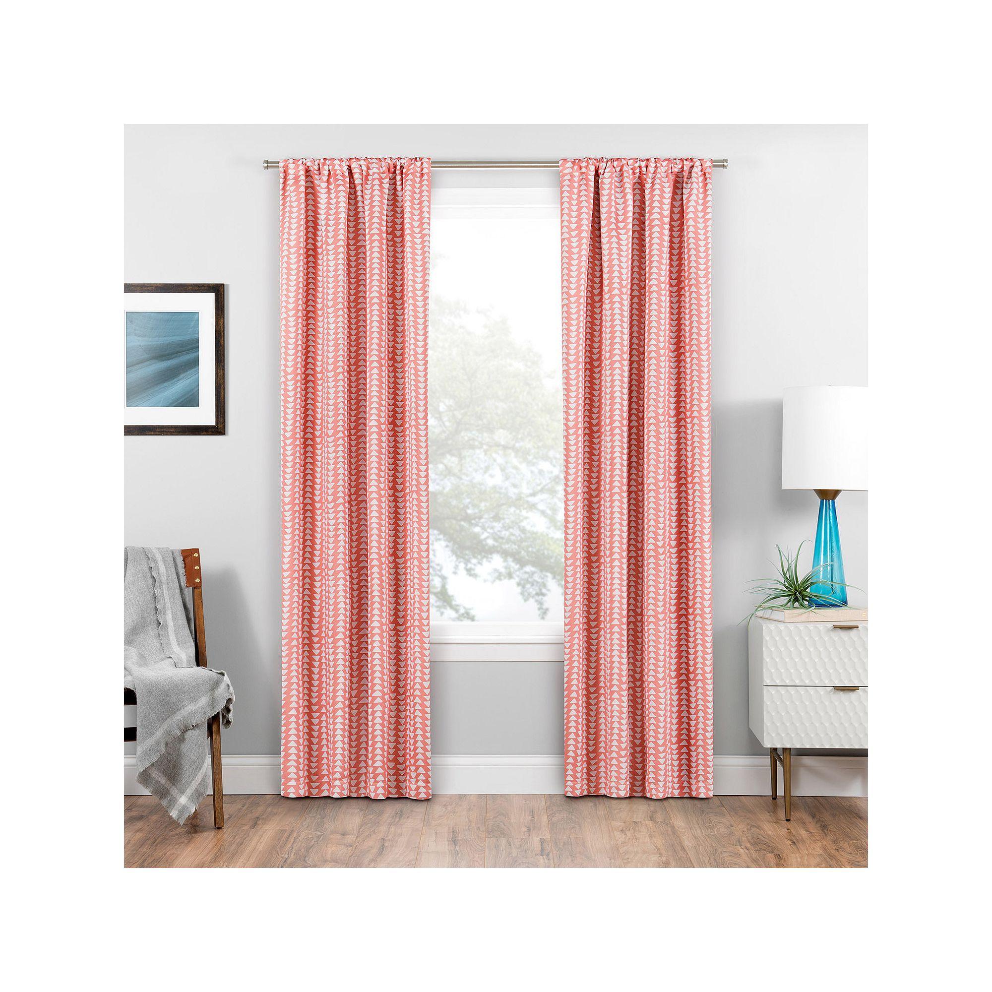 Eclipse Blackout 1 Panel Naya Window Curtain Pink Cool Curtains