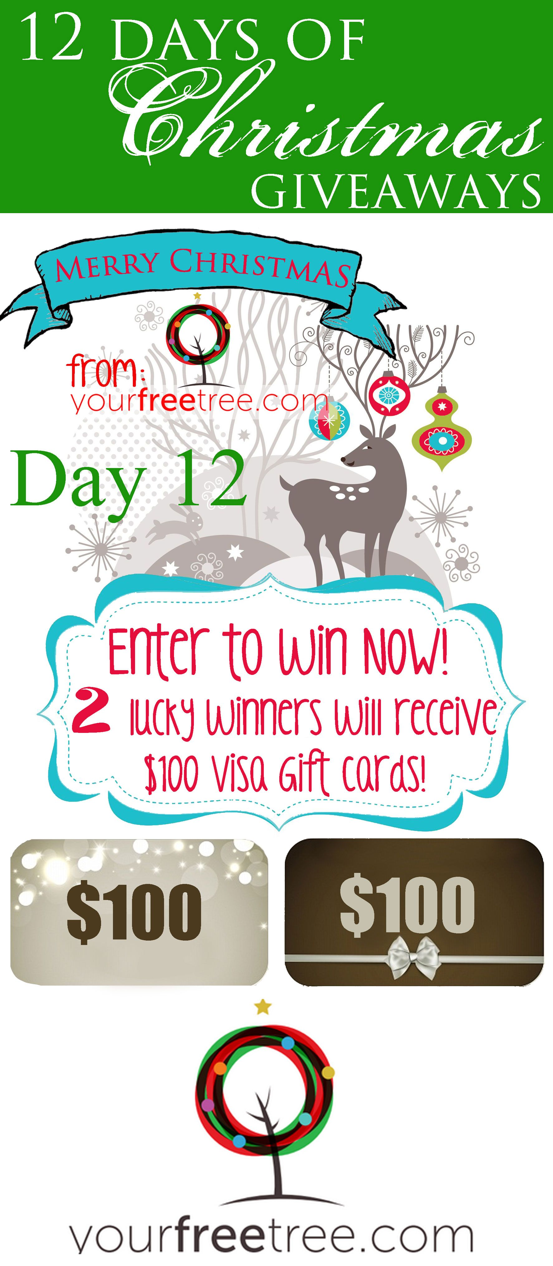 Last Day To Enter Yourfreetree S 12 Days Of Giveaways Two Winners