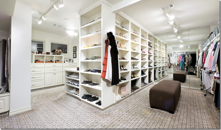 looks like a store, but it's a closet!