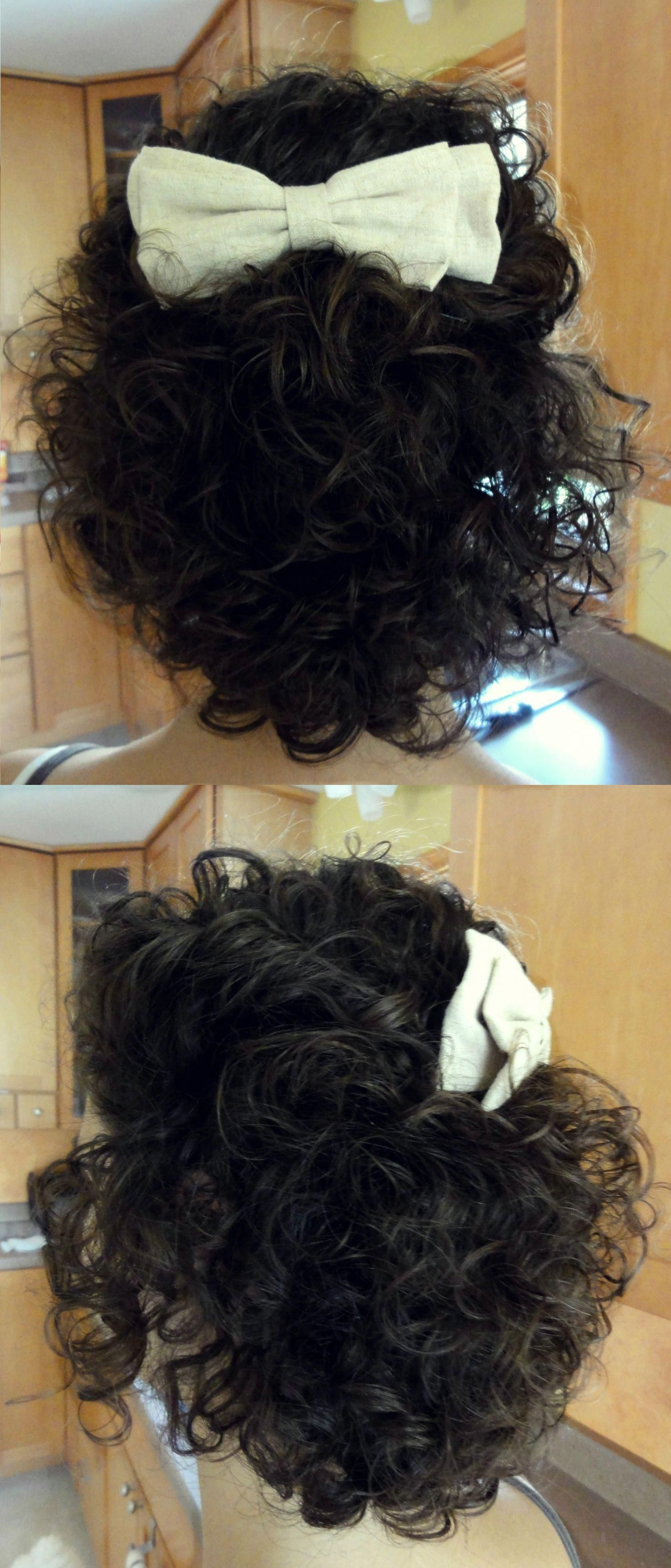 Simple updo perfect for short curly hair twist hair from sides and