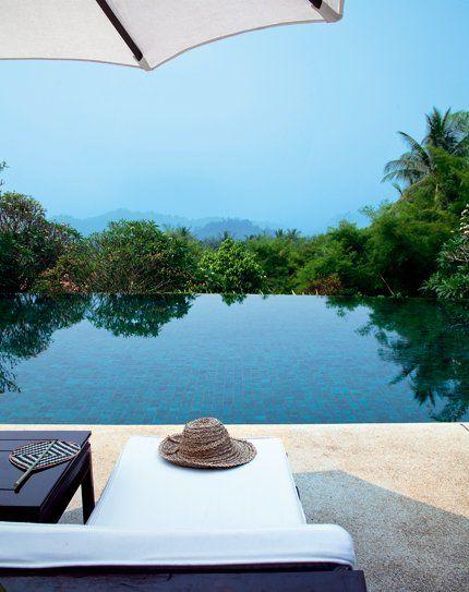 Une résidence à flanc de colline. Hotel Phou Vao au Laos