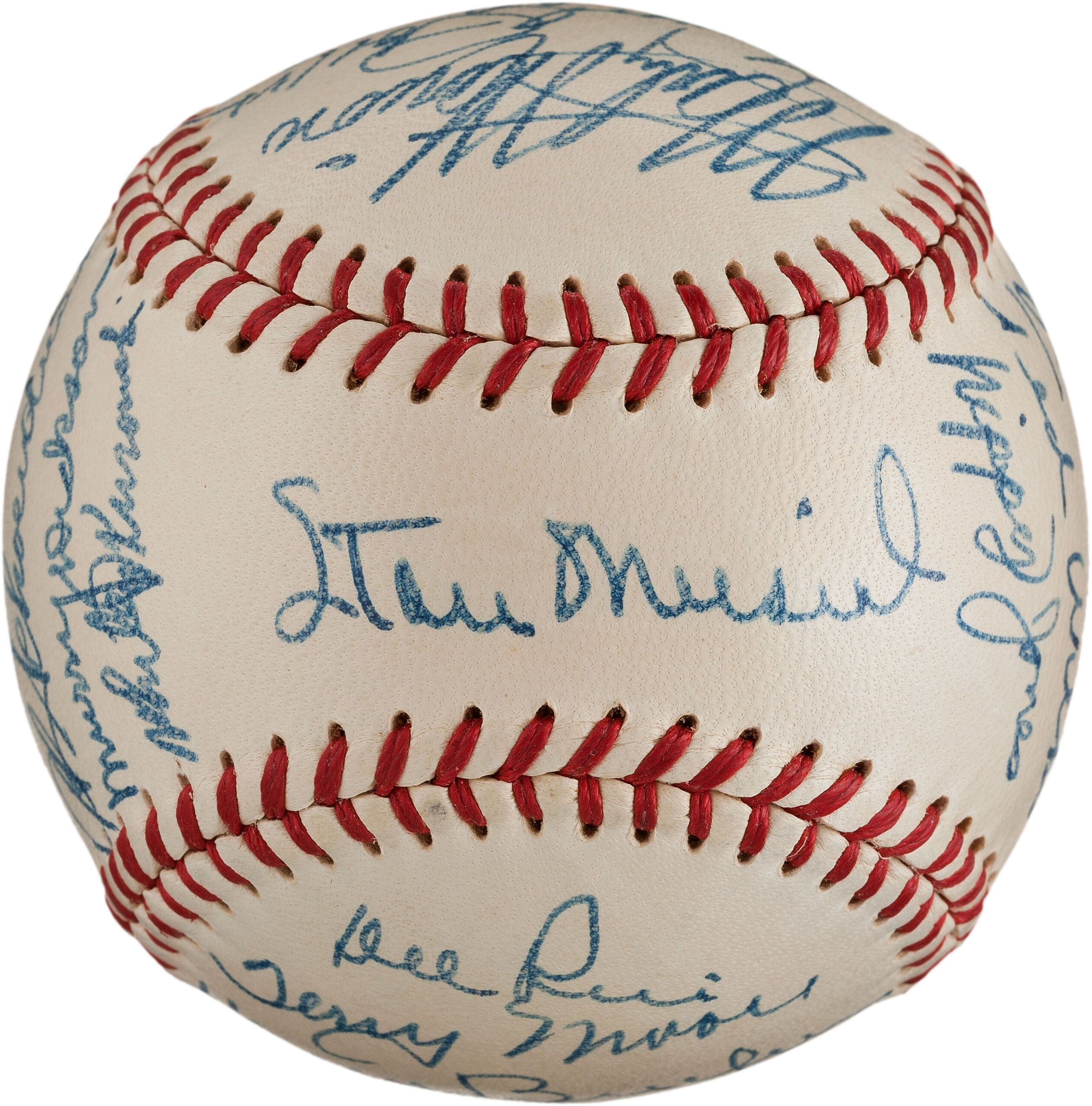 Stan The Man S Mementos On The Auction Block Baseball Signed By Members Of The 1948 St Louis Cardinals B Stan Musial Baseball Signs National Baseball League