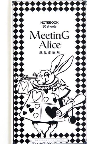 Lovely Message Notes Book Memo  Meeting Alice White Rabbit