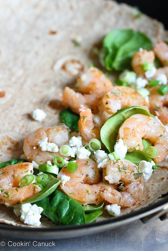 Lemon Dill Shrimp Quesadilla -  Lemon Dill Shrimp Quesadilla  -