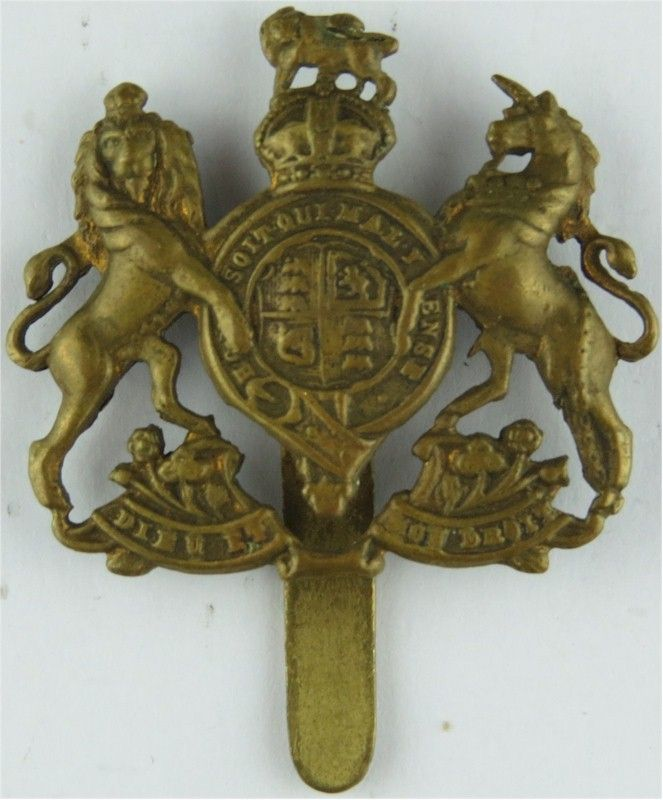 General Service Corps Small - On Slider with King's Crown  Brass