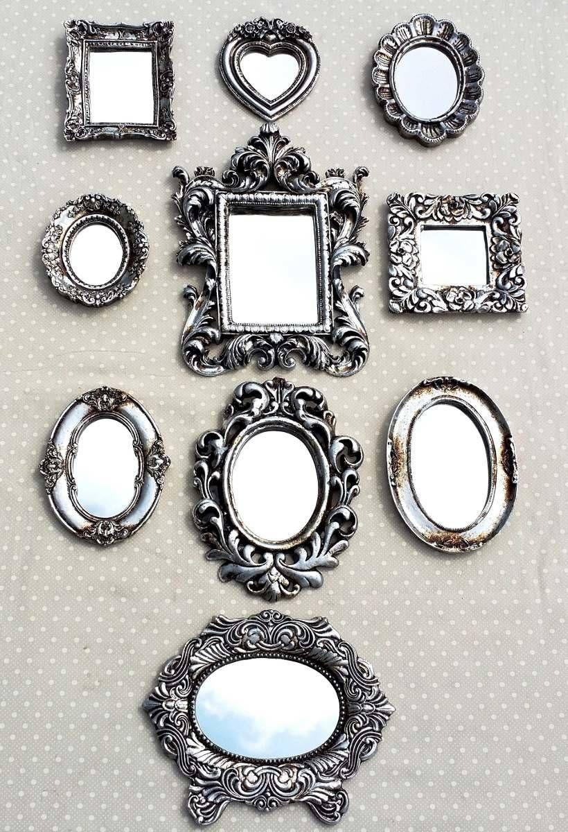 Kit 10 Espelhos com Moldura de Resina Prata Vintage - 1839589   enjoei  https://www.enjoei.com.br/p/kit-10-espelhos-com-moldura-de-resina-prata-vintage-1839589