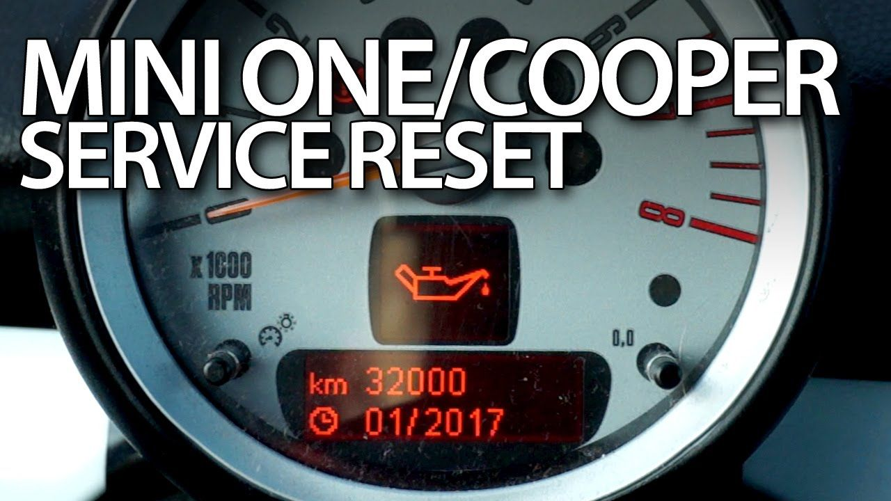 How To Reset Service Reminder In Mini One Mini Cooper Mk1