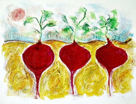Yummy Red Beets Drawing 170 by Barbara H by allthingsbarbara, $18.00